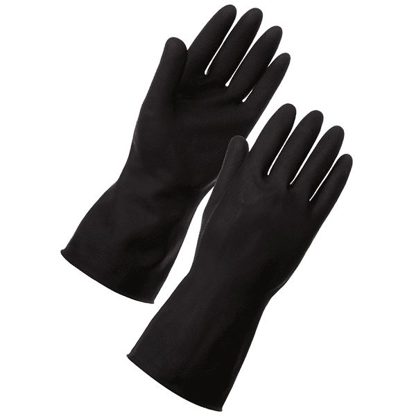 black-rubber-glove-tg06