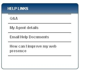Help links which appears on left of screen when you click on help in the back office of your website
