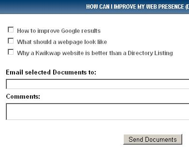 Links to documents explaining how you can improve your web presence SEO Guidelines